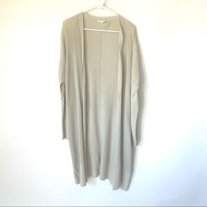 COS Ribbed Dolman Beige Duster Cardigan Size L